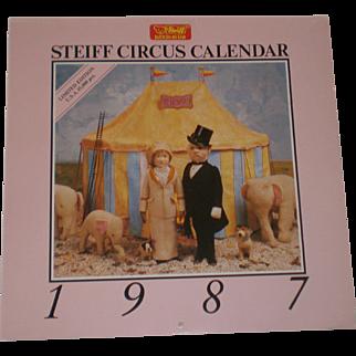 Steiff Circus Calendar 1987 - Limited Edition -