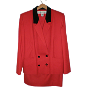Christopher Kent Red Wool Suit - Size 12