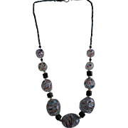 "Vintage 18"" Italian Art Glass Beaded Necklace"