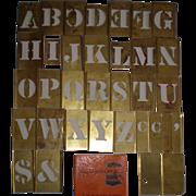 Vintage Reese's Adjustible Brass Stencils