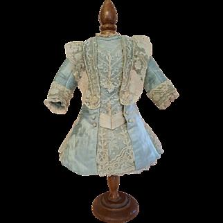 Authentic Antique Jumeau Couturier Dress - Fits Size 7 Tete