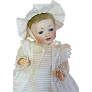 Kestner Character Baby - Mold 211 with Skin Wig - 11 Inches