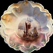 Rare RS Prussia Sailing Ships Master Bowl, c.1900