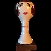 Vintage, Marked Stangl, Brunette Mannequin Head Wig or Hat Stand #2