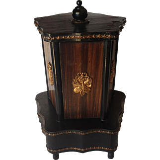 Antique Wooden Musical Cigar Caddy, C.1850
