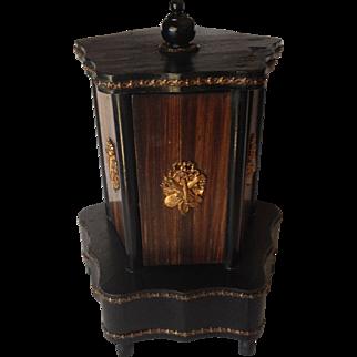 Antique Wooden Musical Cigar Caddy, C.1850