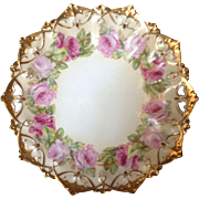 Exquisite Hand-painted MZ Austria Cake Plate, C.1905 - Red Tag Sale Item