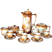 16-Piece Hand-painted MZ Austria Chocolate Pot Set and More