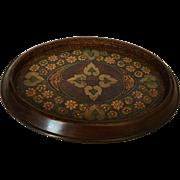 Edwardian Walnut Inlaid Pin or Dresser Tray, c.1910