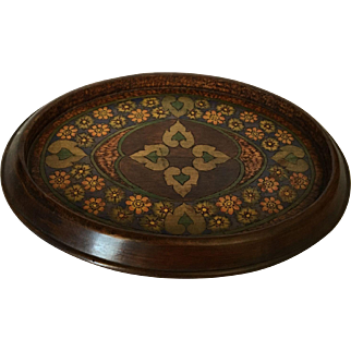 Antique Walnut Inlaid Pin or Dresser Tray, c.1910