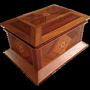 Antique (Civil War Era) American-Made Inlaid Jewelry or Document Box