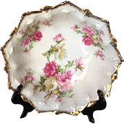 Antique MZ Austria Cabinet Bowl with Beautiful Floral Designs, #2