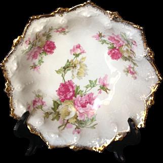 Antique MZ Austria Cabinet Bowl with Beautiful Floral Designs, #2