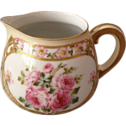 Beautiful T&V Limoges, France Hand-Painted Cider/Water Pitcher