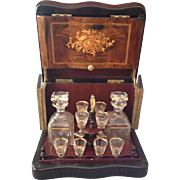 Complete and Original, One of a Kind, Ship Captain's Tantalus, Circa 1890