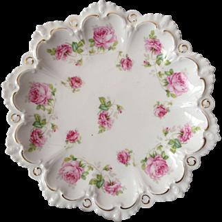 Beautiful MZ Austria Cake Plate, Circa 1900
