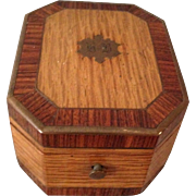 Exceptional Multi Wood Grained Antique Watch Box. C-1880