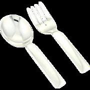 Vintage Cartier Baby Spoon & Fork Set in Sterling Silver