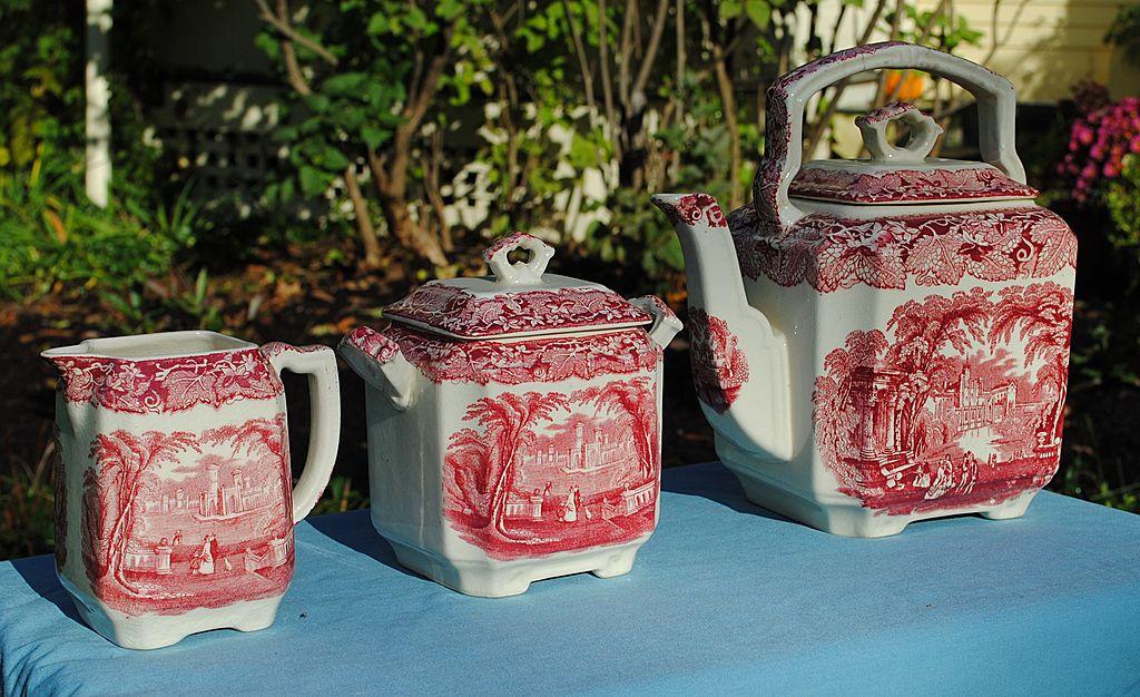 "Mason's Ironstone China Tea Set.....Pre 1940 ""Vista"""