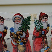 Vintage Sheet of Scrap Santas