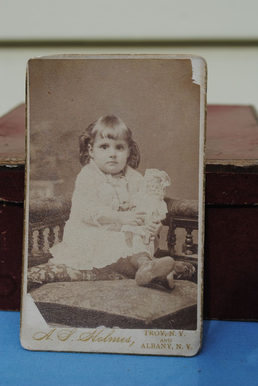 Carte de Vista of A Child With Her Doll....Great Present For A Collector