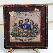 Circa 1860 Mosaic Child's Toy....In 4 Languages