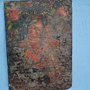 19th c. Mexican Retablo...Madonna And Child....Paint Losses