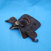 Miniature Salesman's Sample Leather Saddle....Pat.No 252.97