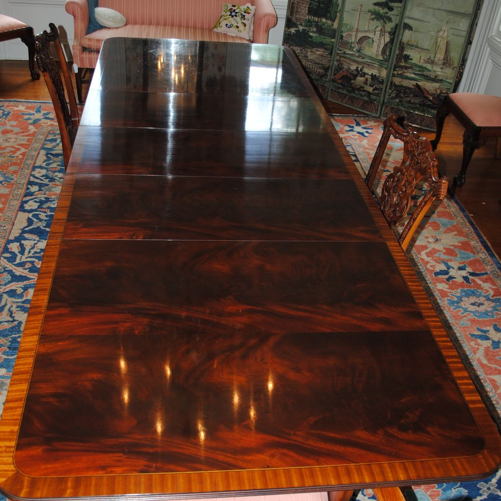 Flame Crotch Mahogany Stickley Dining/Conference Table...3 Leaves ...