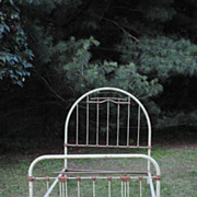 Great French Iron Bed...With Heart Decoration