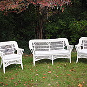 3 Piece Set Of Wicker.....Excellent Condition