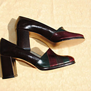 French Never Worn Circa 1940 Shoes With Platform....Fabulous Workmanship