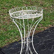 Wire Garden Planter Circa 1880.....Original Wheels