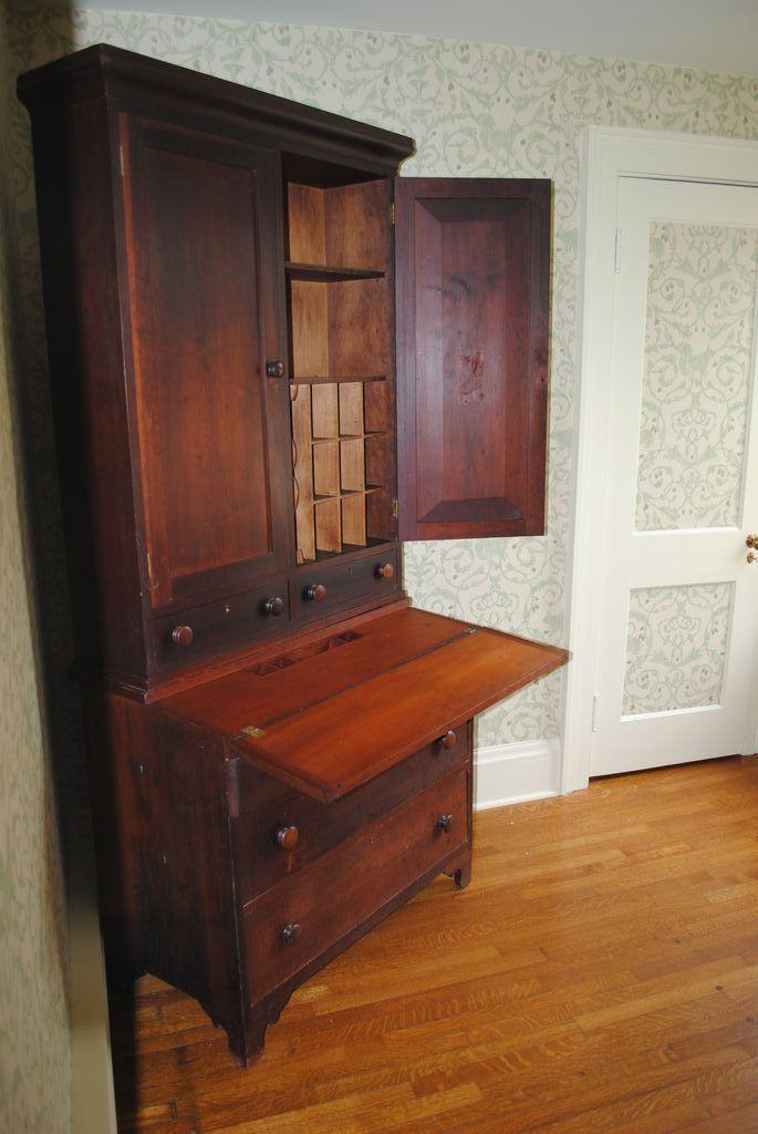 American Country Cherry Secretary Desk Circa 1830