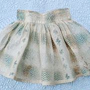 Early Circa 1820-30 Doll Apron For An Early 19thc. Doll