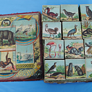 Late 19th c. French Lithographed Toy Blocks