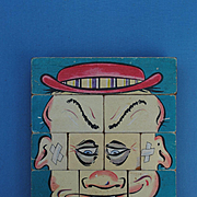 "Schoenhut Blocks ""Ole Million Face"", Early 20th c."