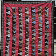 Circa 1890 Crib Quilt Top From Pennsylvania