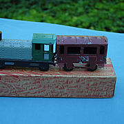"""Unis France"" Tin Train In Original Box"