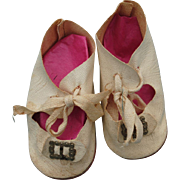 Early 20th c. Oilcloth Shoes