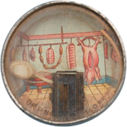 Late 19th c. French Game...Mouse in a Butcher Shop