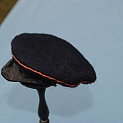 Navy Wool Boy's Cap With Brim Circa 1890-1910