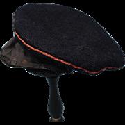 Navy Wool Boy's Cap With Brim Circa 1890-1910