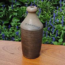 "19th c. Stoneware Bottle ""P. Dempsey"""