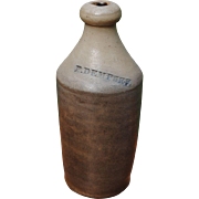 "19th c. Stoneware Bottle ""P. Dempsey"""