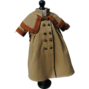Original Late 19th c. Wool Coat With Attached Cape