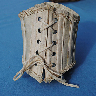 Boned Cotton 19th c. Corset