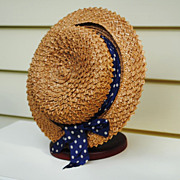Turn Of The Century Straw Hat......Interesting Straw Design