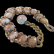 Victorian Saphiret Bracelet, Czech Art Glass Stones