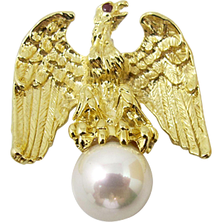 Ann Hand Liberty Eagle Brooch Pin, Figural American Eagle. Patriotic Ann Hand Jewelry